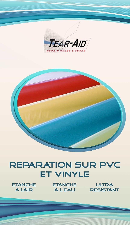 Tear-Aid Kit de reparación instantánea y sin pegamento de chaquetas, lonas, juguetes y hinchables Sevvylor en PVC o vinilo