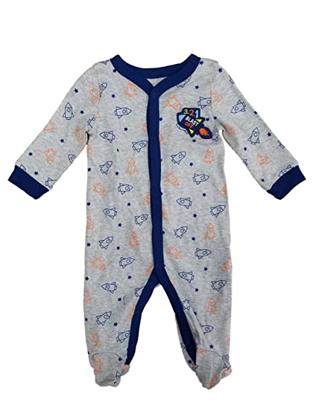 0c875efb1 Amazon.com  Infant Boys Gray Blast Off Space Ship Rocket Sleep ...