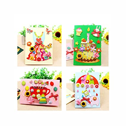 2e55330c9d19f Card Making Kits DIY Handmade Greeting Card Kits for Kids, Christmas Card  Folded Cards and Matching Envelopes Thank You Card Art Crafts Crafty Set ...
