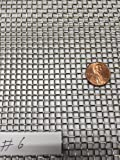 """ASC Stainless Steel Mesh 304,#6 .035 Wire,Cloth,Screen,Woven wire 12""""X12"""""""