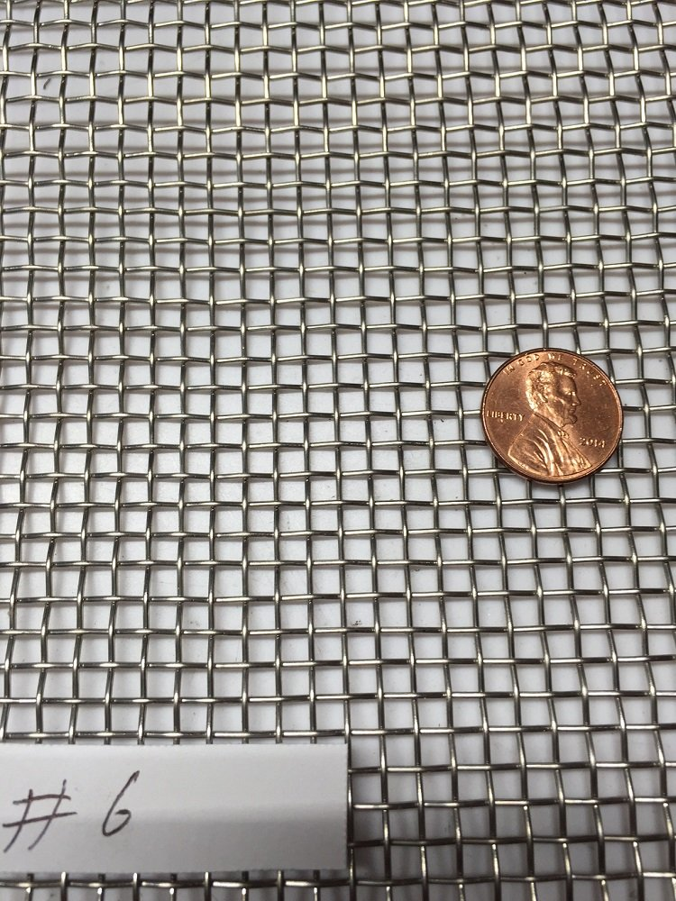 """Stainless Steel 304 Mesh #8 .035 Wire Cloth Screen 24/""""x24/"""""""