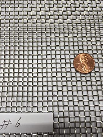 """Stainless Steel 304 Mesh #20 .016 Wire Cloth Screen 3/""""x6/"""""""