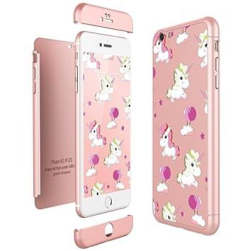 CE-Link Funda iPhone 6 / iPhone 6s, Carcasa Fundas para iPhone 6 / iPhone 6s 3 en 1 Desmontable Ultra-Delgado Anti-Arañazos Case Protectora Unicorns ...
