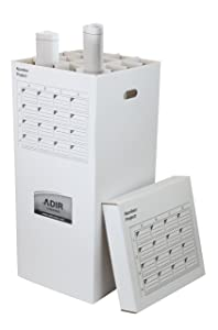Adir Corrugated Cardboard 16 Roll File (For Rolls up to 37 Inches Long) Upright Storage Cabinet