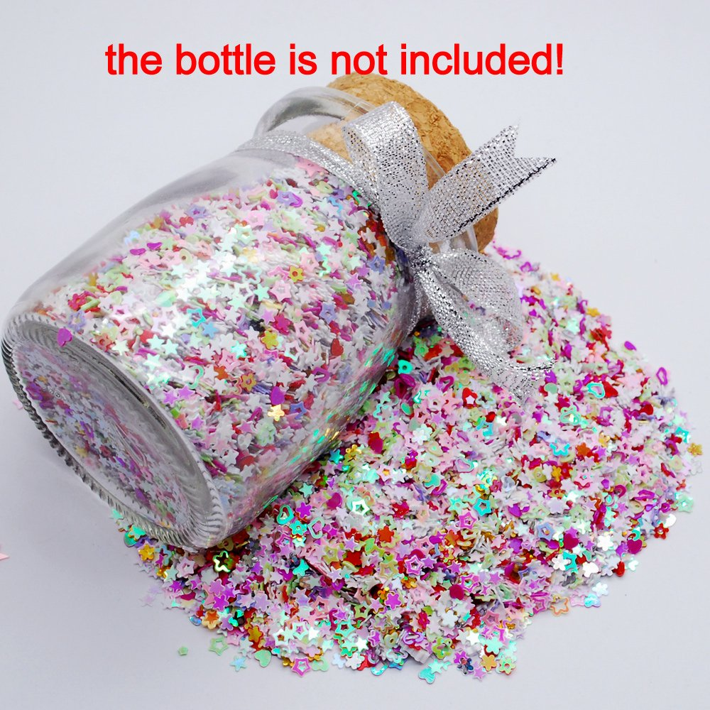 amazoncom colorful manicure glitter confetti 18oz50g mixed shapes size 3mm great for party dcor diy crafts premium nail art etc toys u0026 games