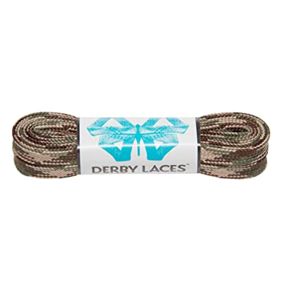 Derby Laces Camouflage 60 Inch Waxed Skate Lace for Roller Derby, Hockey and Ice Skates, and Boots : Sports & Outdoors