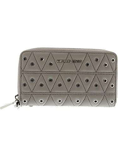 a313a646cf5b Michael Kors Grommets Leather Multi-functional Wallet - Grey - 32F7SFDE9O- 081