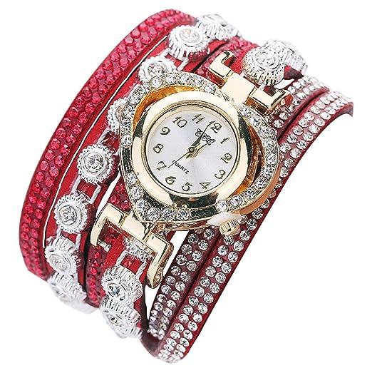 relojes pulsera mujer, K-youth® mujeres estilo bohemio de estilo tejido pulsera de
