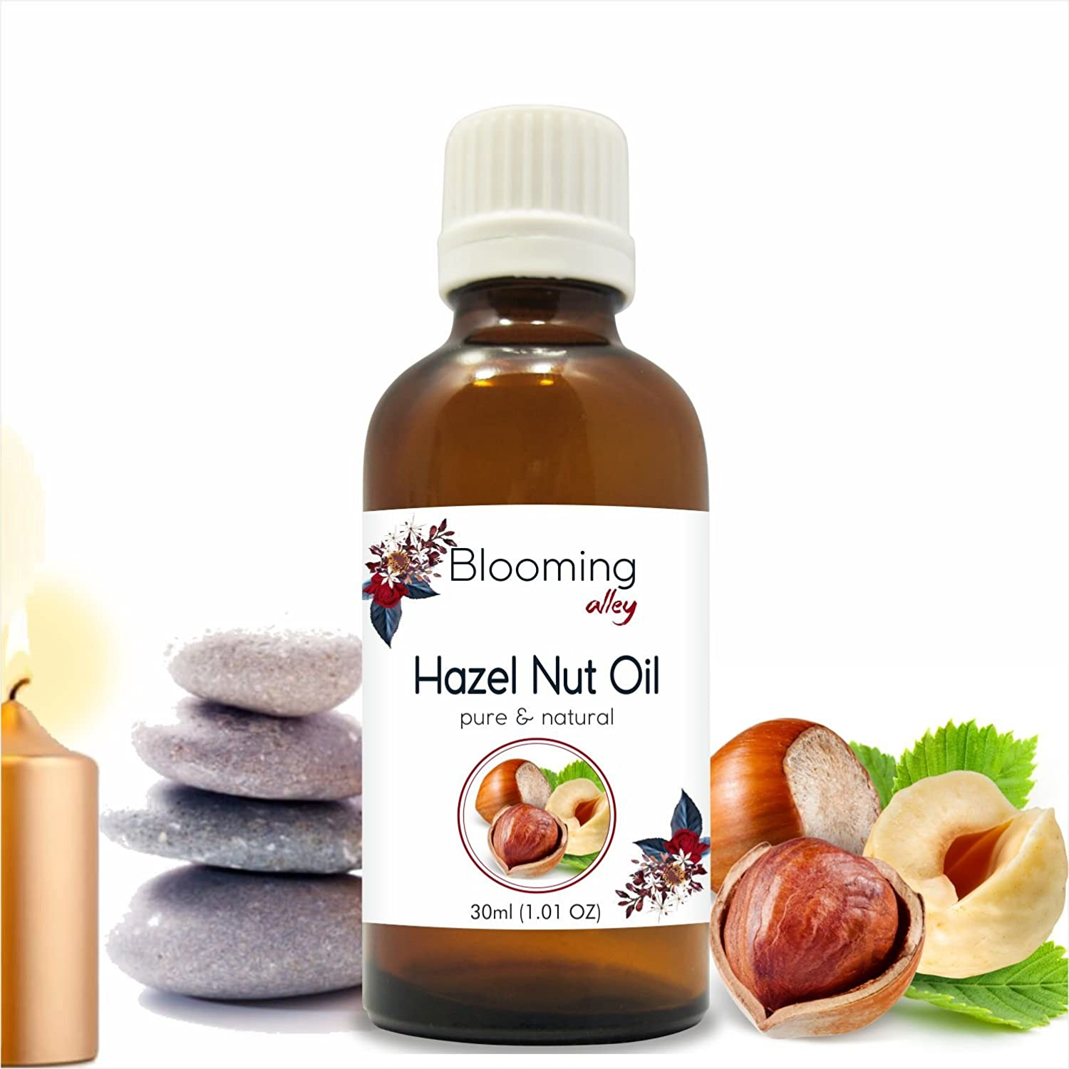 Hazelnut Oil(Corylus avellana) Carrier Oil 30 ml Or 1.0 Fl oz by Blooming Alley Salvia Pharmaceuticals