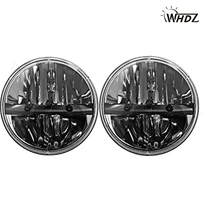 WHDZ 7 Inch Round Led Headlight for Jeep Wrangler CJ JK TJ Motorcycle Offroad Vehicles (Pack of 2): Automotive