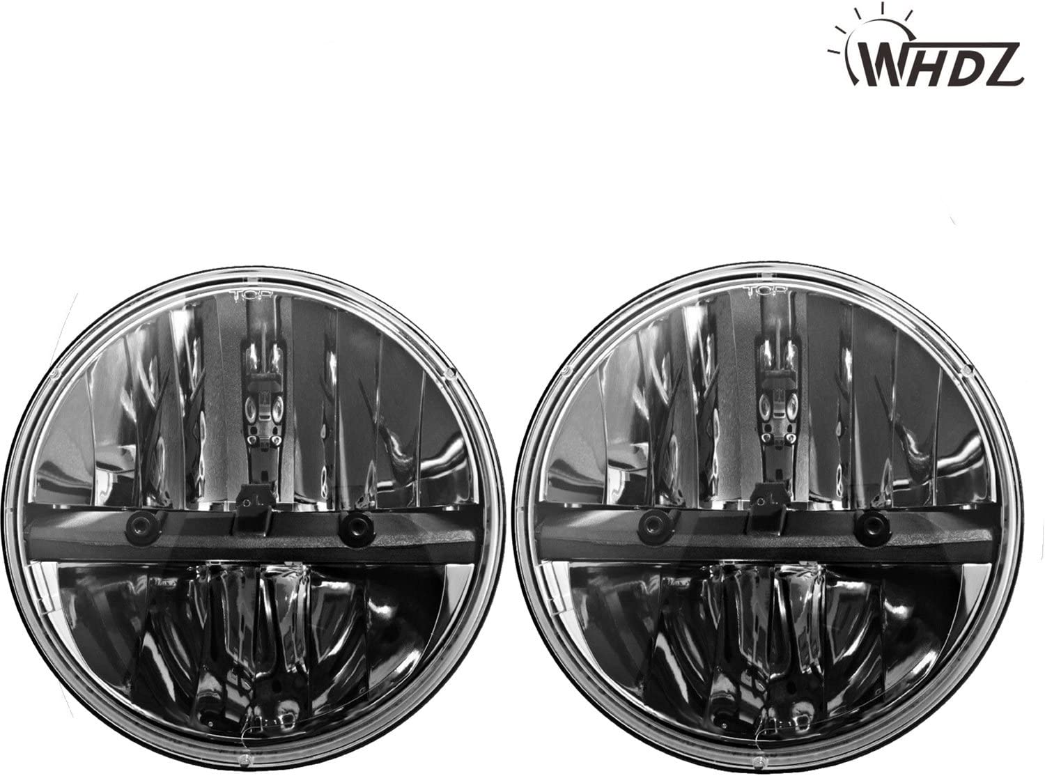 WHDZ 7 Inch Round Led Headlight for Jeep Wrangler CJ JK TJ Motorcycle Offroad Vehicles (Pack of 2)
