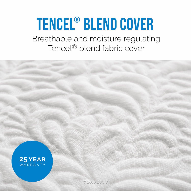 Amazon LUCID 16 Inch Plush Memory Foam and Latex Mattress