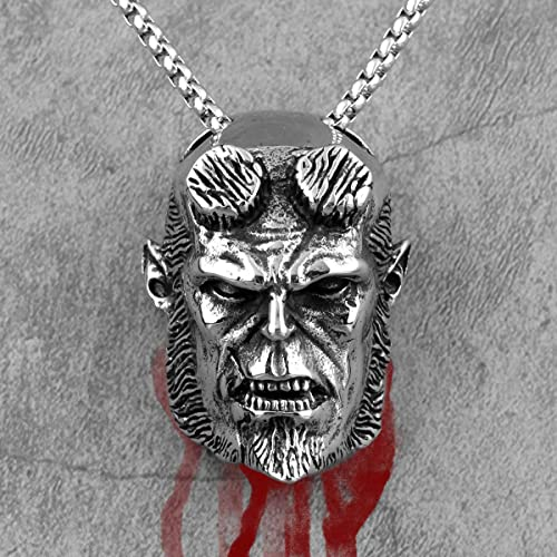 Hellboy Anung Un Rama Long Men Necklaces Pendant Chain Punk For Boyfriend Male Stainless Steel Jewelry Creativity Gift | Amazon.com