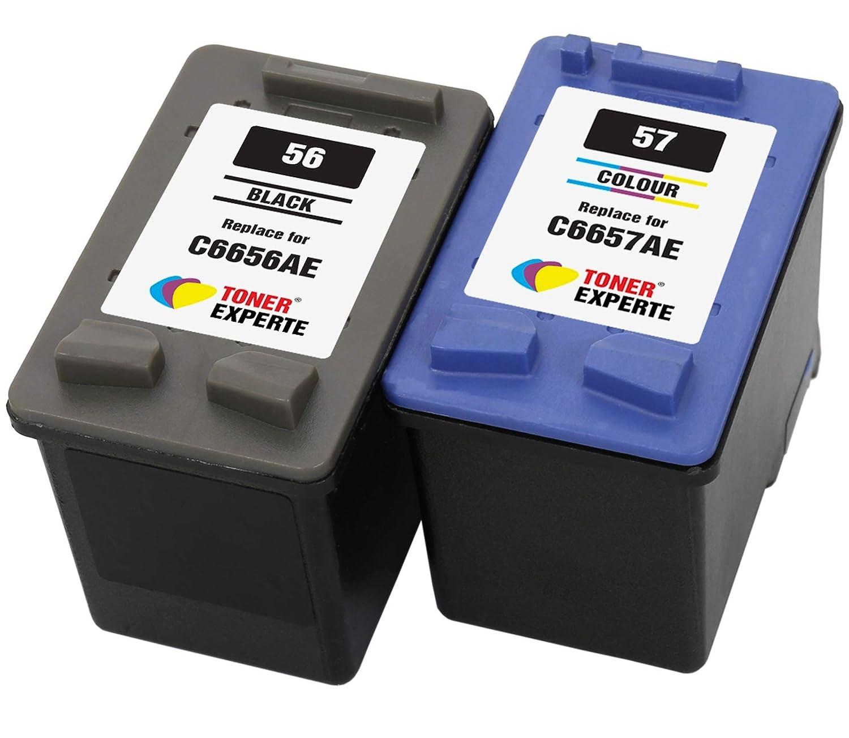 TONER EXPERTE® Reemplazo para HP 56 57 2 Cartuchos de Tinta ...