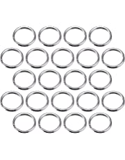 Bememo 100 Pack Small Key Ring Round Metal Split Rings for Home Keys Organization and Craft Making, Silver (15 mm/ 0.59 inch)