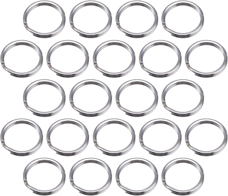 100 Piezas Anilla de Llave 15 mm/ 0,59 Pulgada Anilla Separada de Metal para Organización de Llaves de Hogar y Manualidades, Plateado (15 mm/ 0,59 Pulgada)