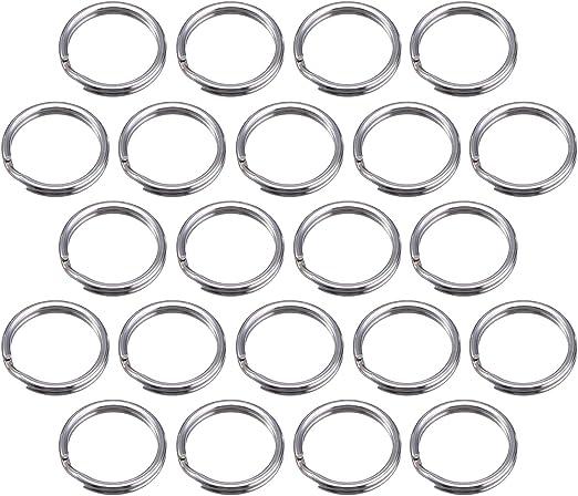 15 mm// 0,59 Pulgada Plateado 100 Piezas Anilla de Llave 15 mm// 0,59 Pulgada Anilla Separada de Metal para Organizaci/ón de Llaves de Hogar y Manualidades