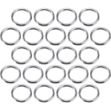 100 Pack Small Key Ring 15 mm Round Metal Split Rings for Home Keys Organization and Craft Making, Silver