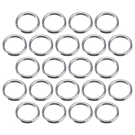 100 Piezas Anilla de Llave 15 mm/ 0,59 Pulgada Anilla Separada de Metal para Organización de Llaves de Hogar y Manualidades, Plateado (15 mm/ 0,59 ...