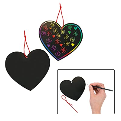 Magic Color Scratch Hearts (2Dz) - Crafts for Kids and Fun Home Activities: Home & Kitchen
