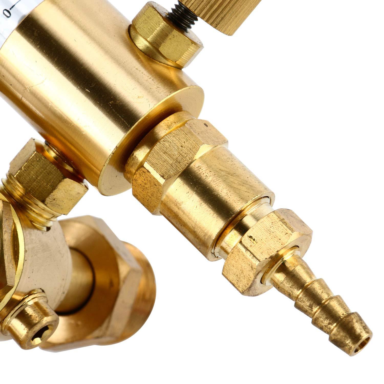 YaeTek DUAL Argon CO2 Mig Tig Flow meter Regulator Welding Weld Double Backpurge