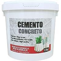 Cemento Rápido para artesanía, 2,5 kg de Material, hormigón para Manualidades, Ideal para moldes de látex, proyectos de…