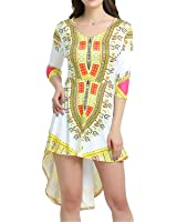Eloise Isabel Fashion Retro Vintage Ladies Plus Size Roupas Femininas Robe Femme Vestidos Irregulares Impressão Africano