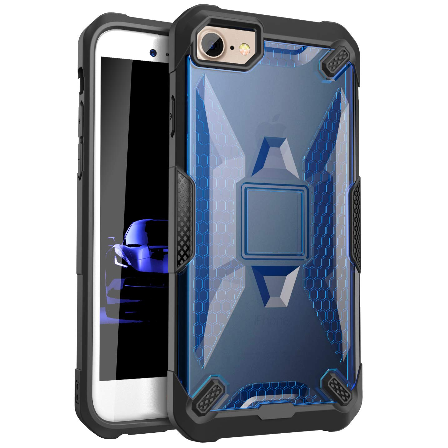 the best attitude c5ea8 17235 Zisure [ Xmatter] Vibrant Frost Clear View Durable Solid Cases with  Lightweight Design Slim fit for iPhone 6, 6s, iPhone 7, iPhone 8 (4.7 inch)  (Black ...