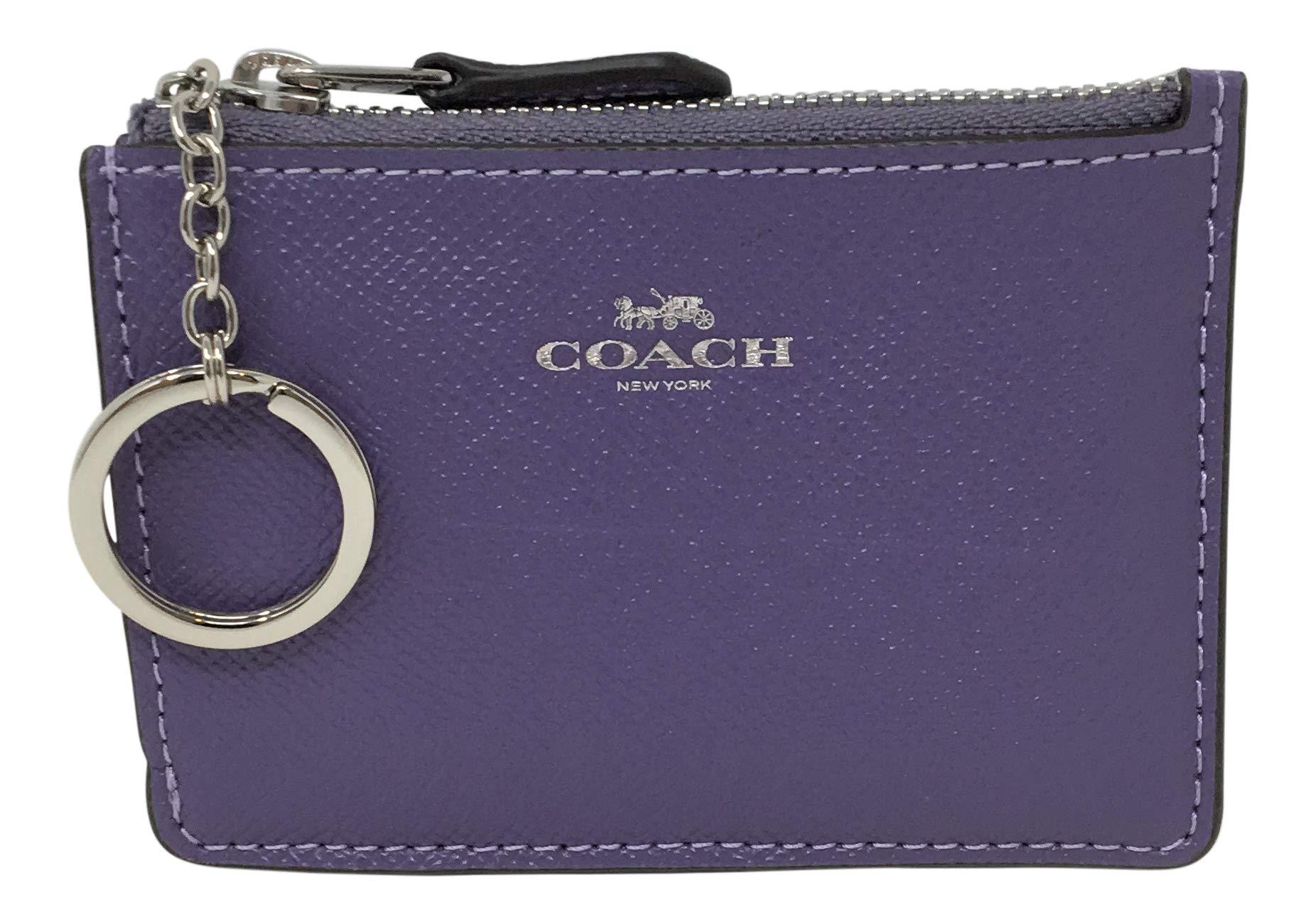 Coach F12186 Mini Skinny ID Case In Crossgrain Leather Light Purple by Coach