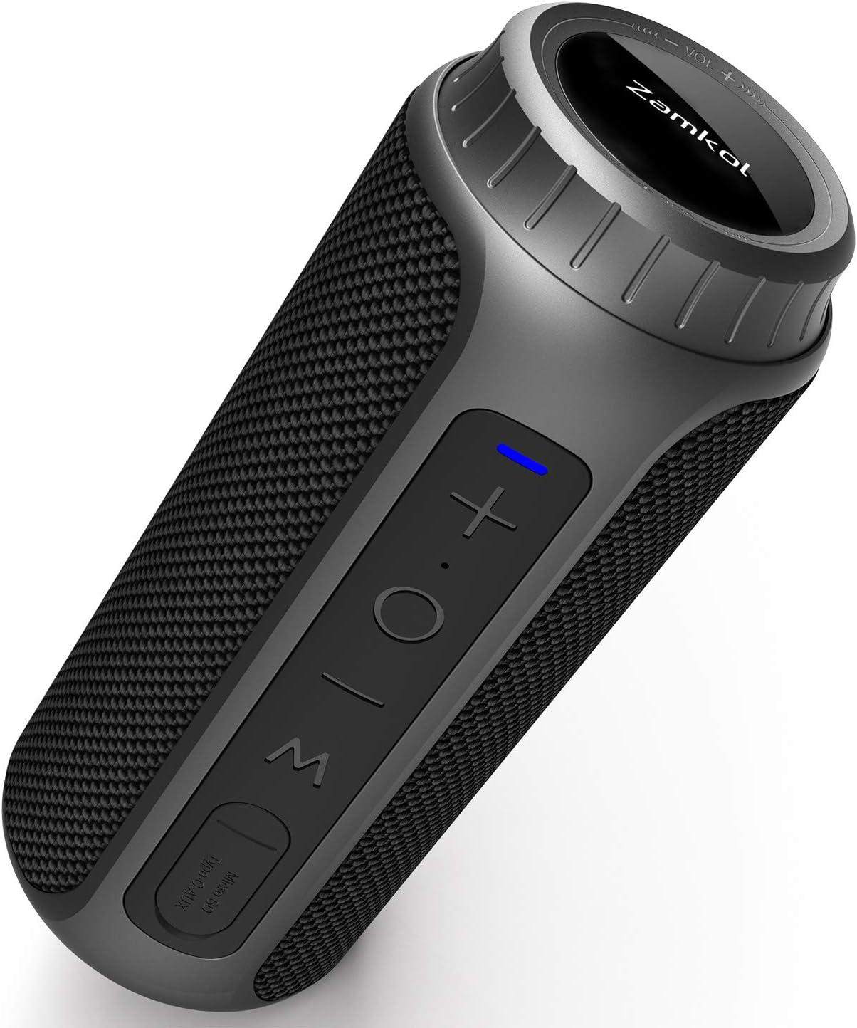 Bluetooth Speaker 5.0, Zamkol Portable Wireless Outdoor Speakers