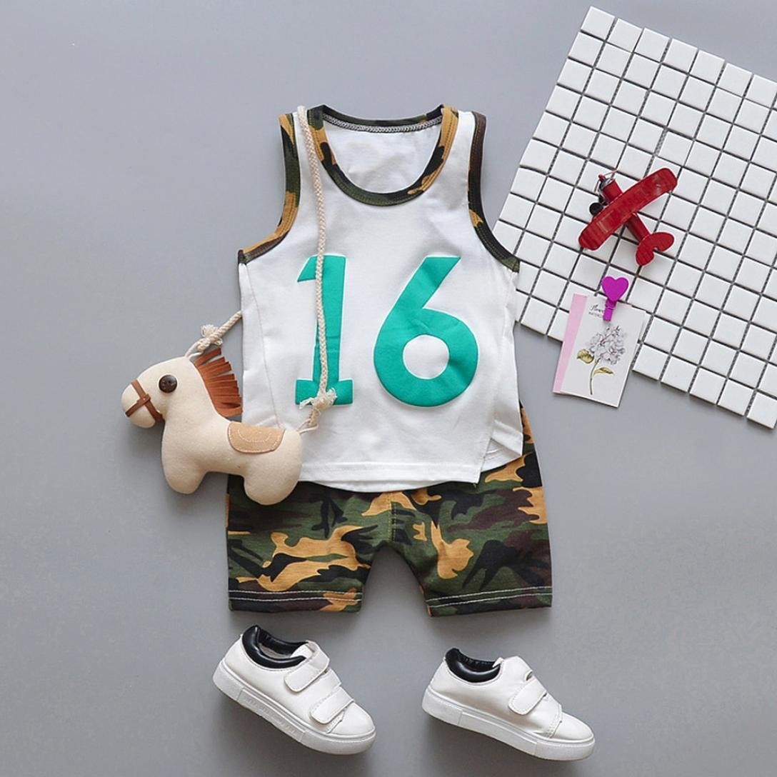 8b9c28772 Amazon.com  Pollyhb Baby Boy Basketball Number 16 Clothes Sets ...