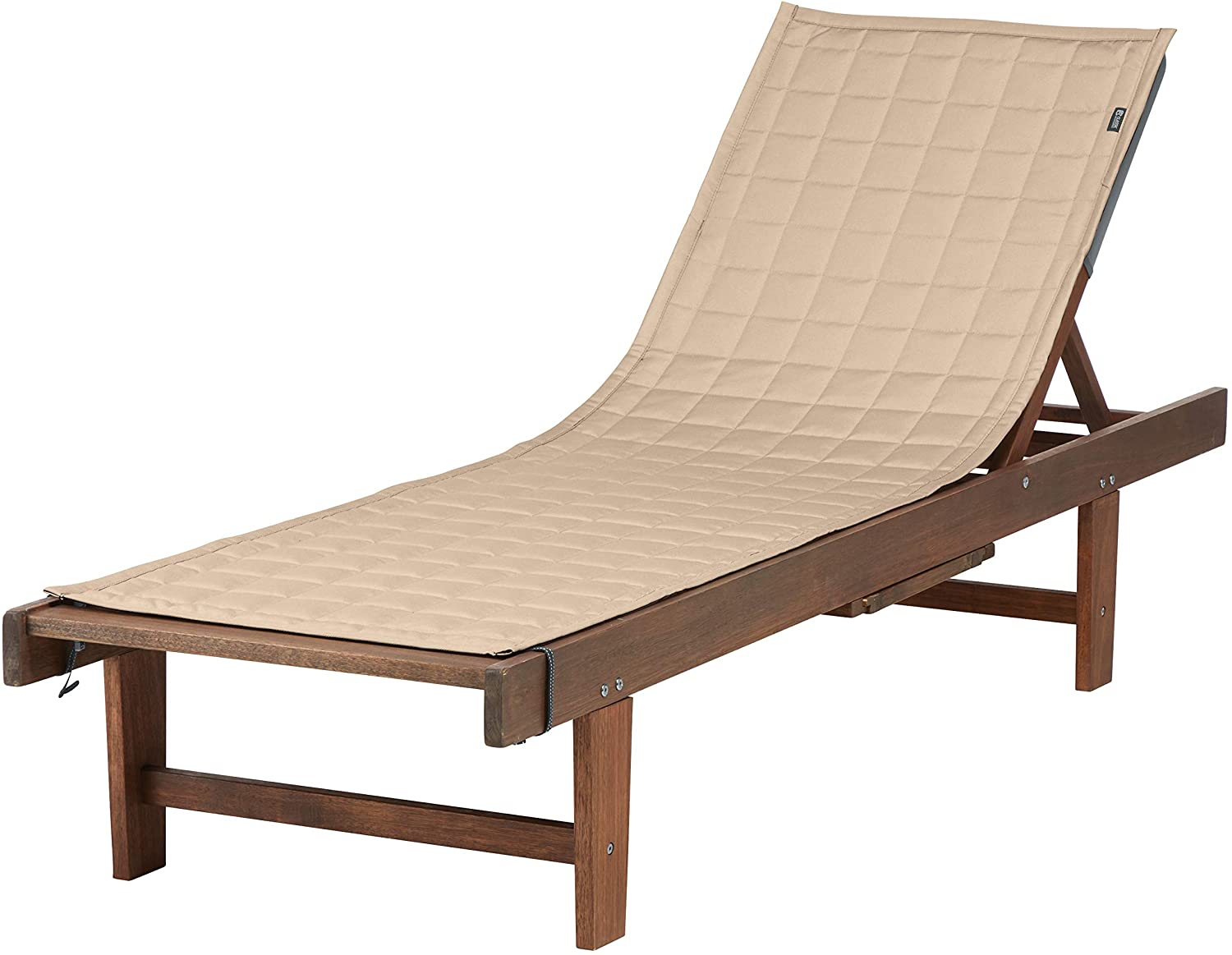Classic Accessories Montlake Water-Resistant 72 Inch Patio Chaise Lounge Slipcover, Antique Beige