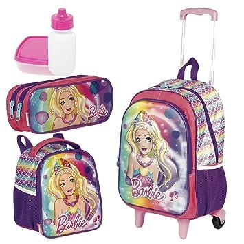 f4d0ac489c Kit Mochila Infantil Barbie 18X 3D Lancheira Estojo Sestini  Amazon ...