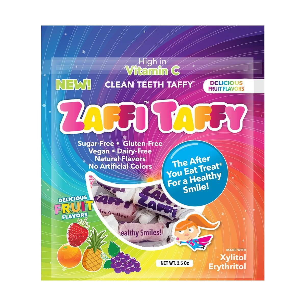 Zollipops Zaffi The Clean Teeth Taffy, Natural Fruit Variety, 3 Ounce by Zollipops