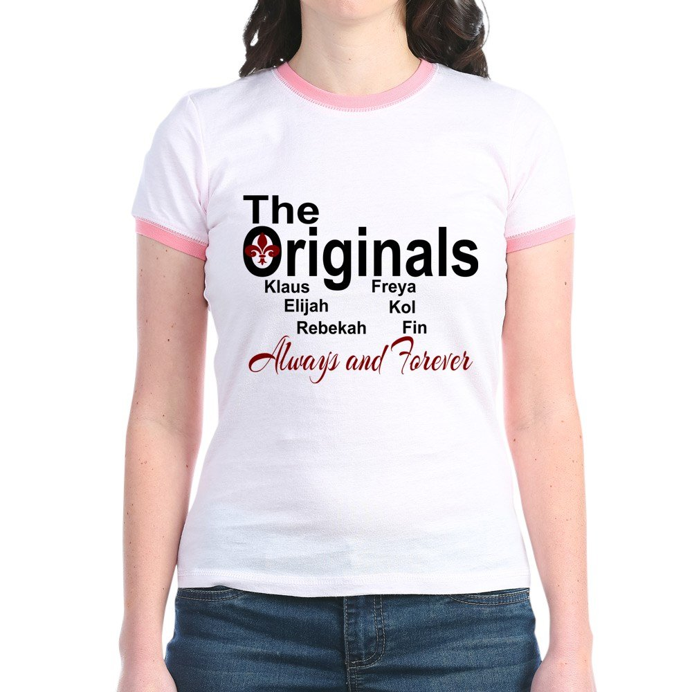 897b64230 Amazon.com: CafePress - Always and Forever The Originals T-Shirt - Jr.  Ringer T-Shirt, Slim Fit 100% Cotton Ringed Shirt: Clothing