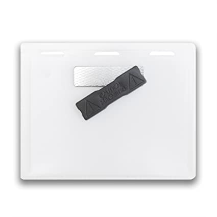 bf881470d83 Image Unavailable. Image not available for. Color  Magnetic Name Badge  Holder ...