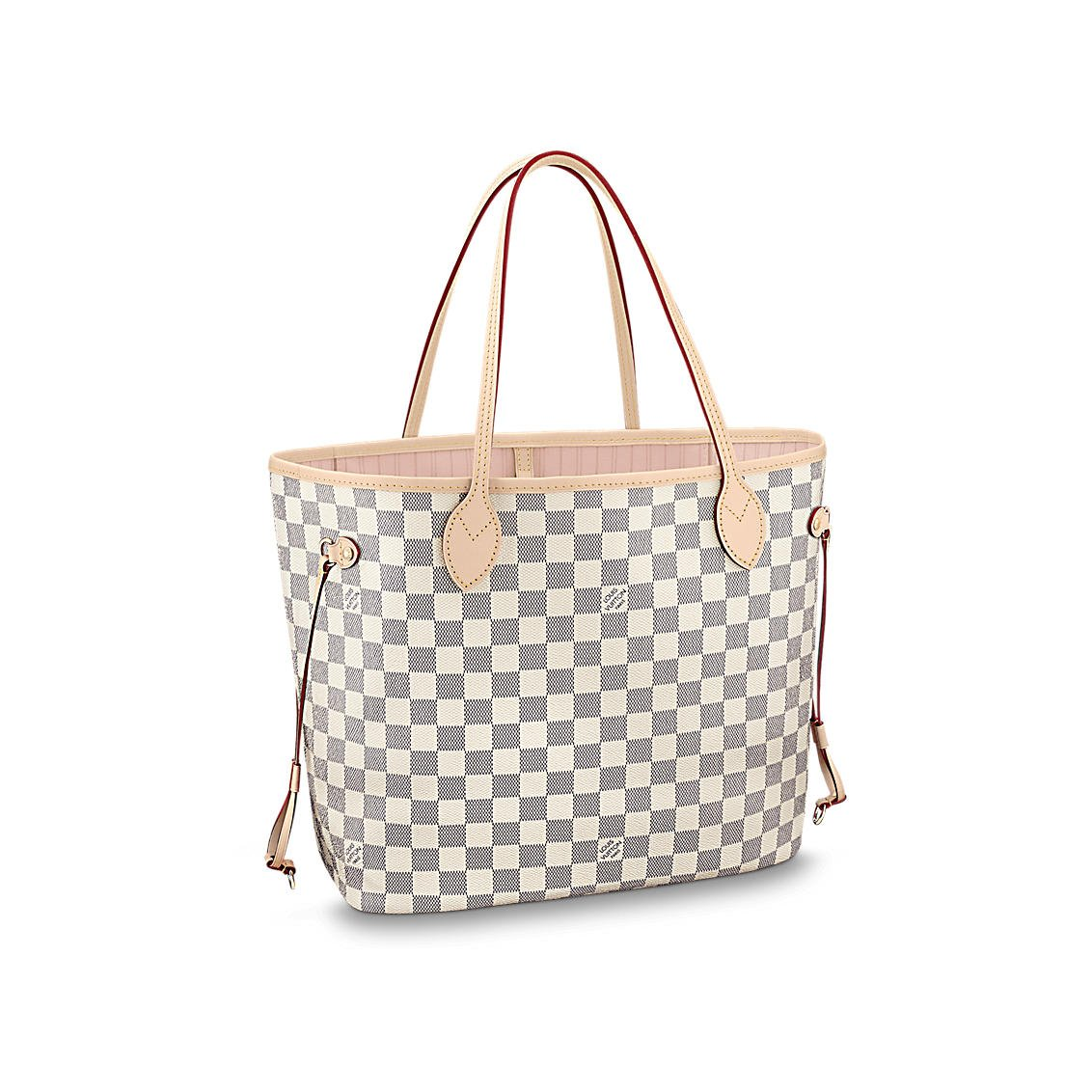 db938424430c Amazon.com  Louis Vuitton Damier Azur Canvas Neverfull MM N41605 Rose  Ballerine  Shoes