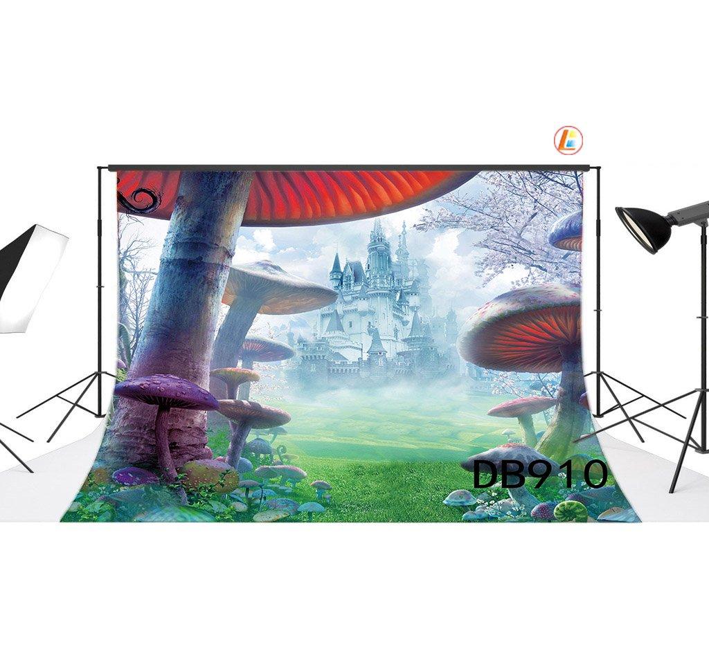 LB 10X8ft Fantasy Castle Photography Backdrop Vinyl Customized Photo Background Studio Prop DB910
