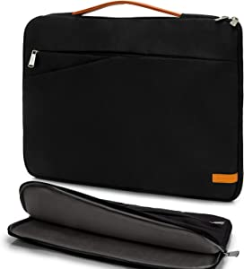 KINGSLONG 17 Inch Laptop Sleeve Case Bag Water Resistant Compatible with Acer Aspire/Predator, Toshiba, Dell Inspiron, ASUS P-Series, HP Pavilion, Lenovo, Chromebook Notebook Carrying Case, Black
