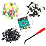 550 pcs Universal Fastener Clips, Mixed Color