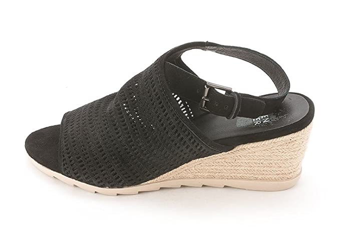 Eileen Fisher Womens AURA Open Toe Casual Slingback Sandals Black Size 80