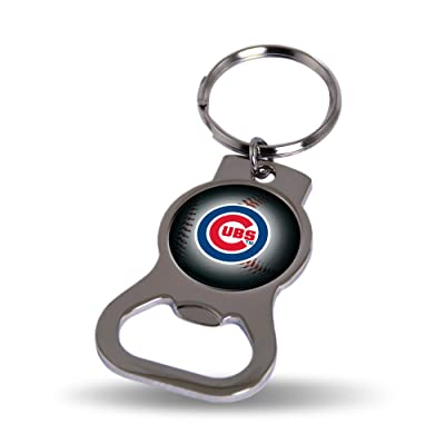 Rico Industries Chicago Cubs Bottle Opener Keytag, Multi: Sports & Outdoors