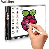 Makibes 3.5 Inch Touch Screen TFT LCD (A) 320x480 Designed for Raspberry Pi RPi/Raspberry Pi 2 Model B/Raspberry Pi 3 Model B