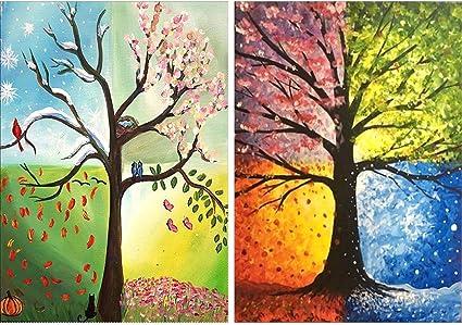 Four Season Tree 5D DIY Diamond Painting Embroidery Mosaic Cross Stitch Art Gift