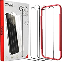 TOZO for iPhone 12 Pro Max 6.7 inch Screen Protector [3-Pack] Premium Tempered Glass [0.26mm] 9H Hardness 2.5D Film…