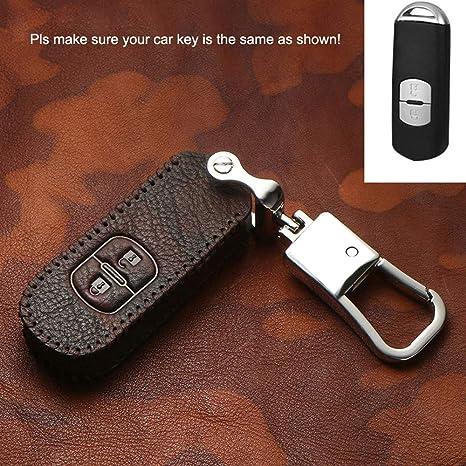 Amazon.com: Funda de piel para llaves de coche con carcasa ...