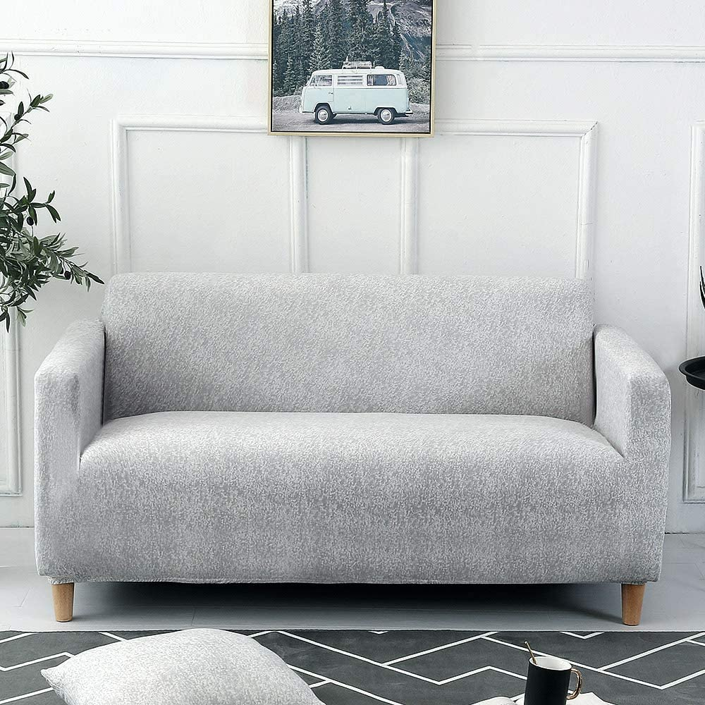 Carvapet Sofa Cover Stretch Couch Covers Elastic Fabric Printed Pattern Chair Loveseat Settee Sofa Covers Universal Fitted Sofa Slipcover Furniture