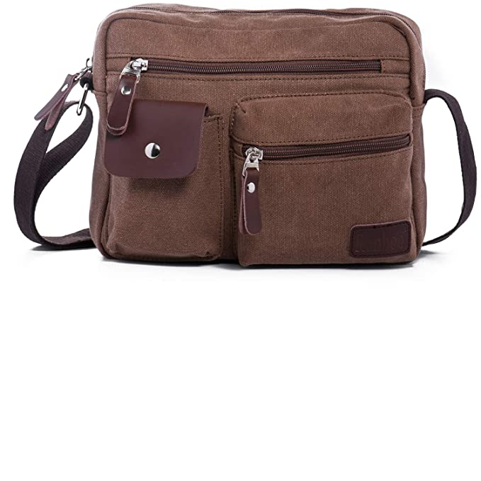 Image Unavailable. Image not available for. Color  Ranboo Men Crossbody  Shuolder Bag Canvas Messenger ... 87a41cca80074