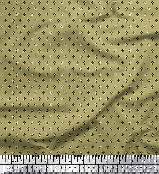 Soimoi Verde batista de algodon Tela punto y triángulo tela de ...