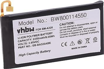vhbw Litio polímero batería 2350mAh (3.85V) para móvil Smartphone ...